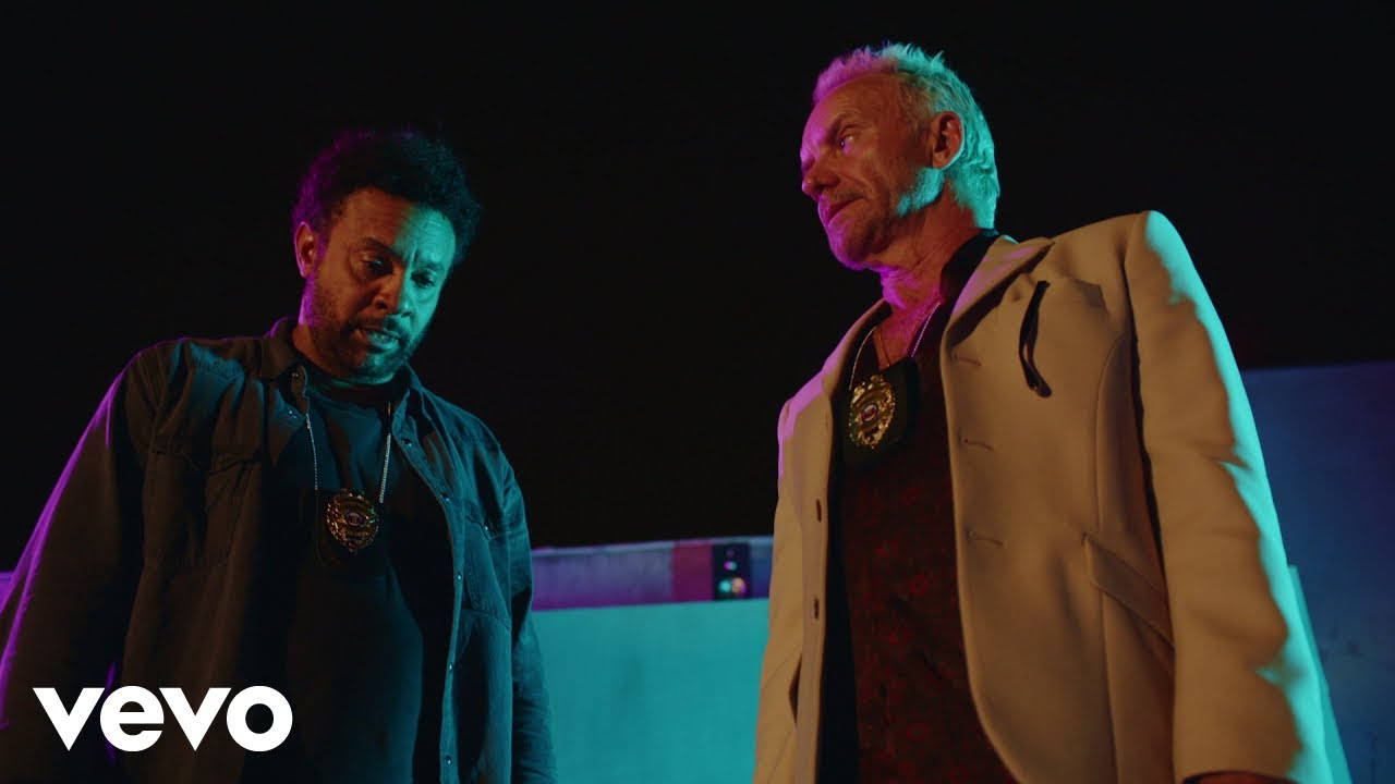 Sting and Shaggy star in a mini buddy-cop movie in their new video