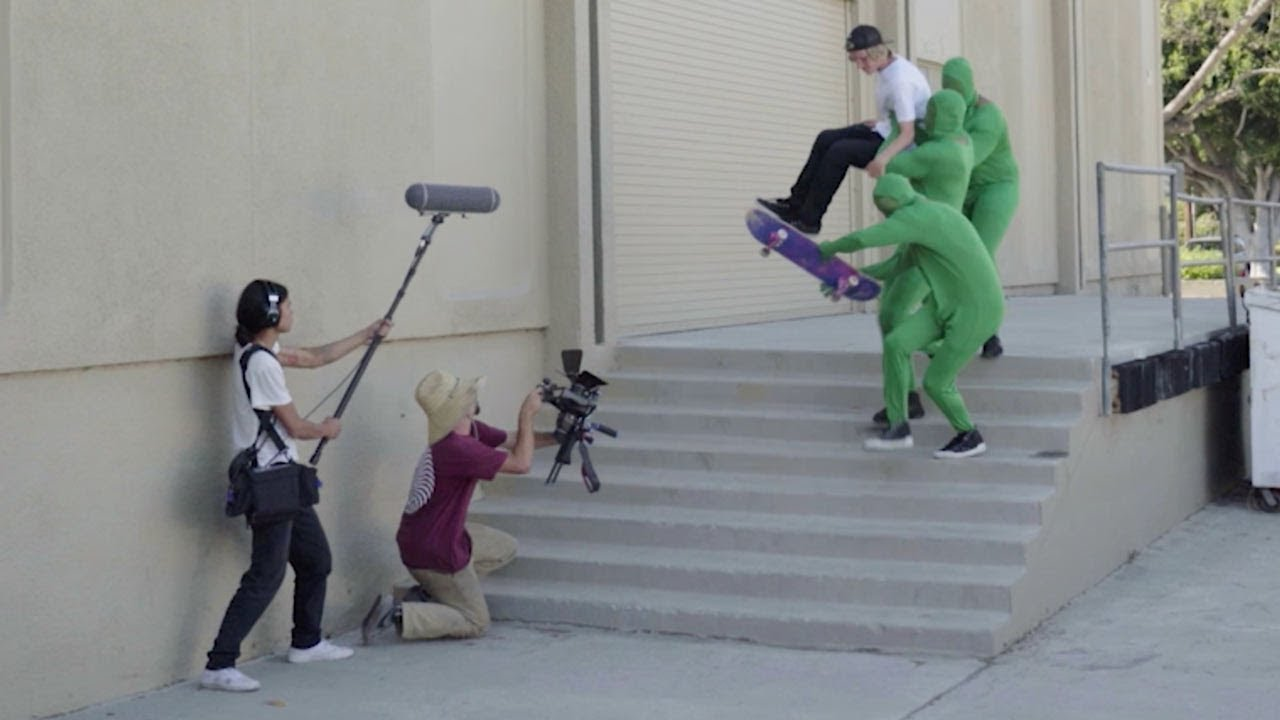 Go behind the scenes of a skate video… ish