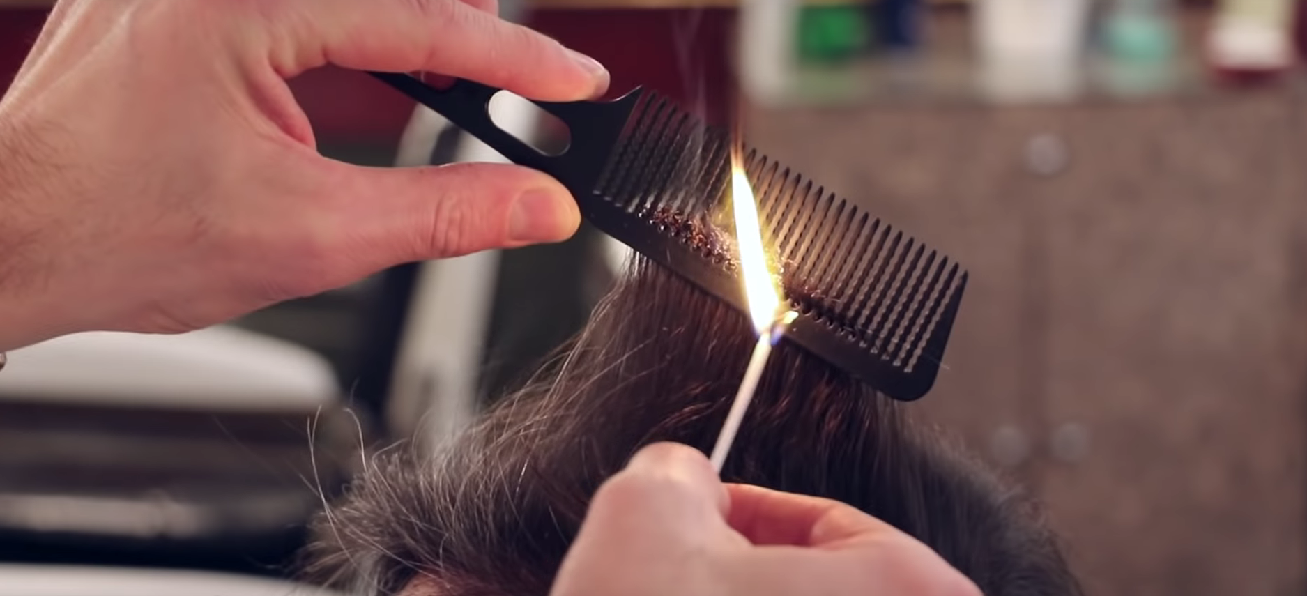 Feeling Hot! Cutting Hair With Fire
