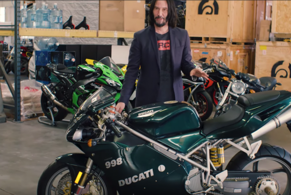 Keanu Reeves Shows Off His Awesome Motorcycle Collection