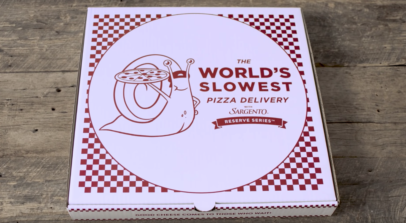 "Ad Promises The ""Worlds Slowest Pizza Delivery"""