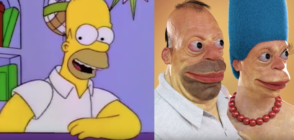 The Man Who Makes Creepy, Realistic Versions Of Famous Cartoon Characters