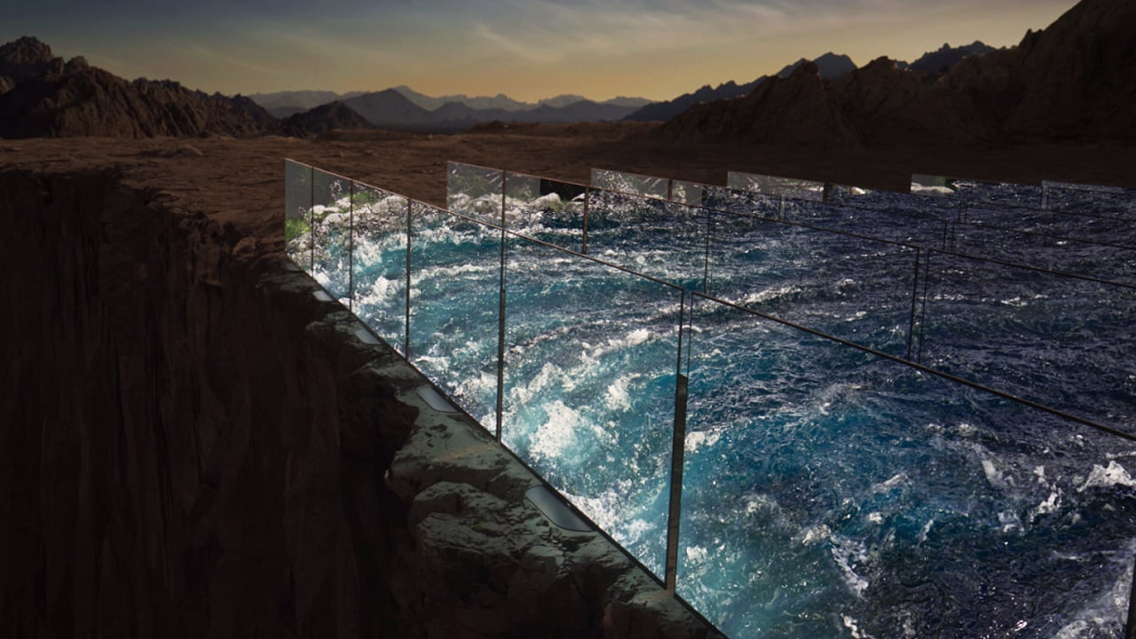Sony Create A Flowing River Out Of TVs