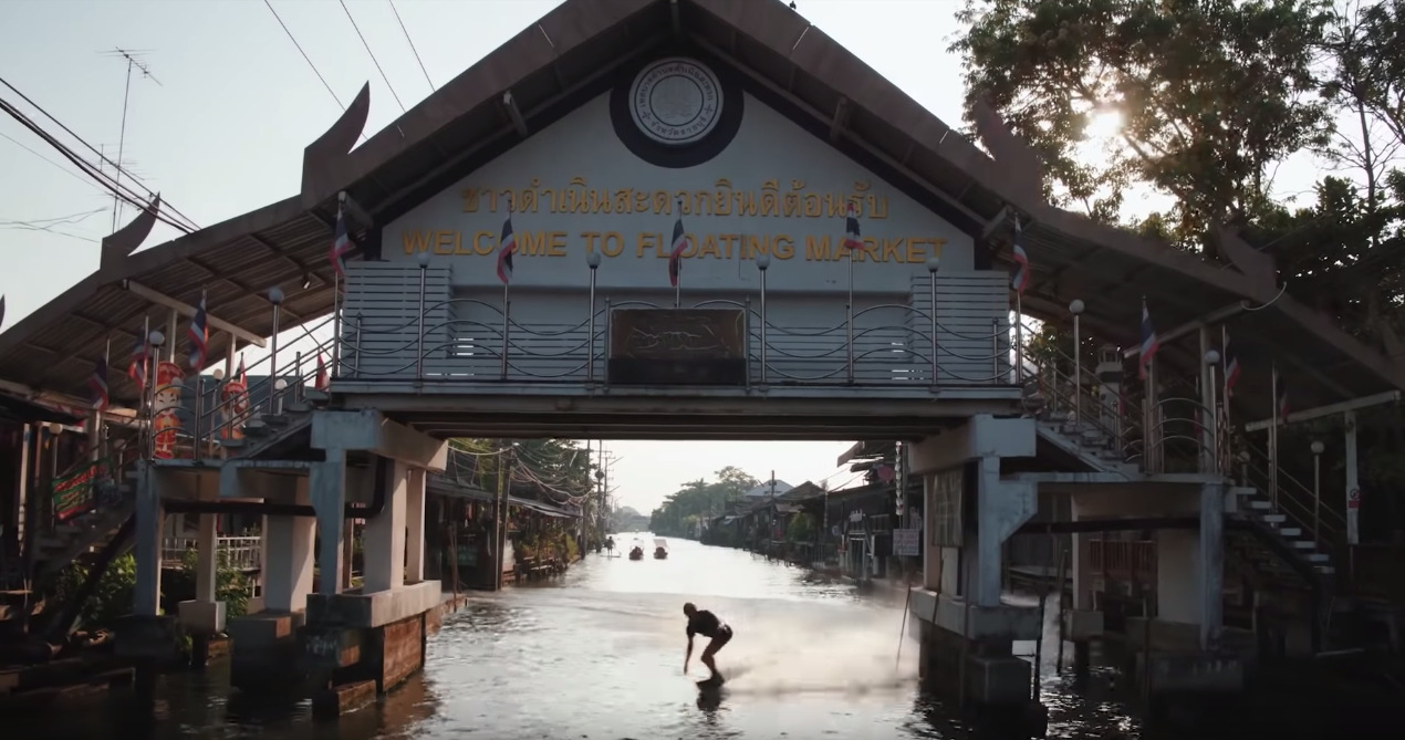Wakeboarding Through Bangkok's Floating Markets