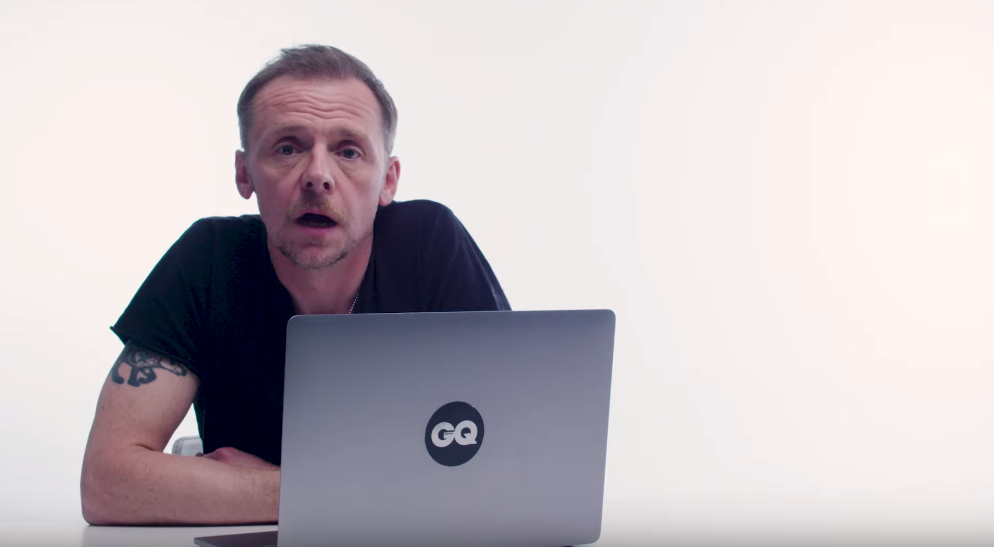 """Simon Pegg Revisits Scenes From """"Shaun Of The Dead"""" With GQ"""