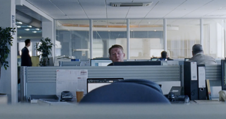 """An Office Worker Looses It In Idles' Music Video For """"Mercedes Marxist"""""""