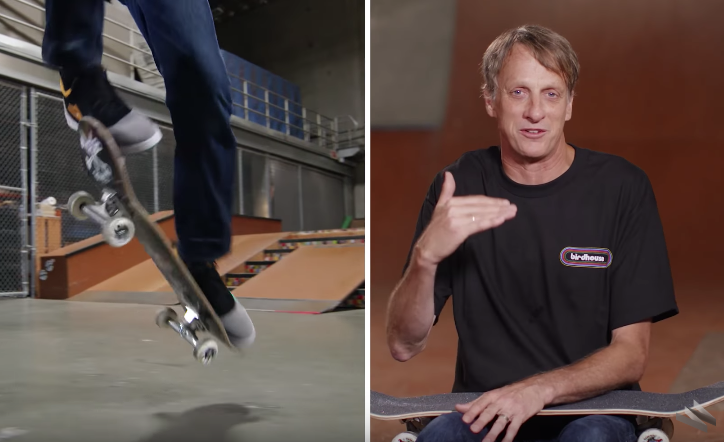 Tony Hawk Goes Through The 21 Levels Of Difficulty In Skateboarding