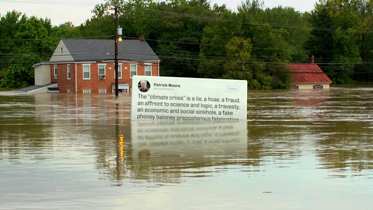 Putting Climate Change Denying Tweets Inside Disasters Caused By Global Warming