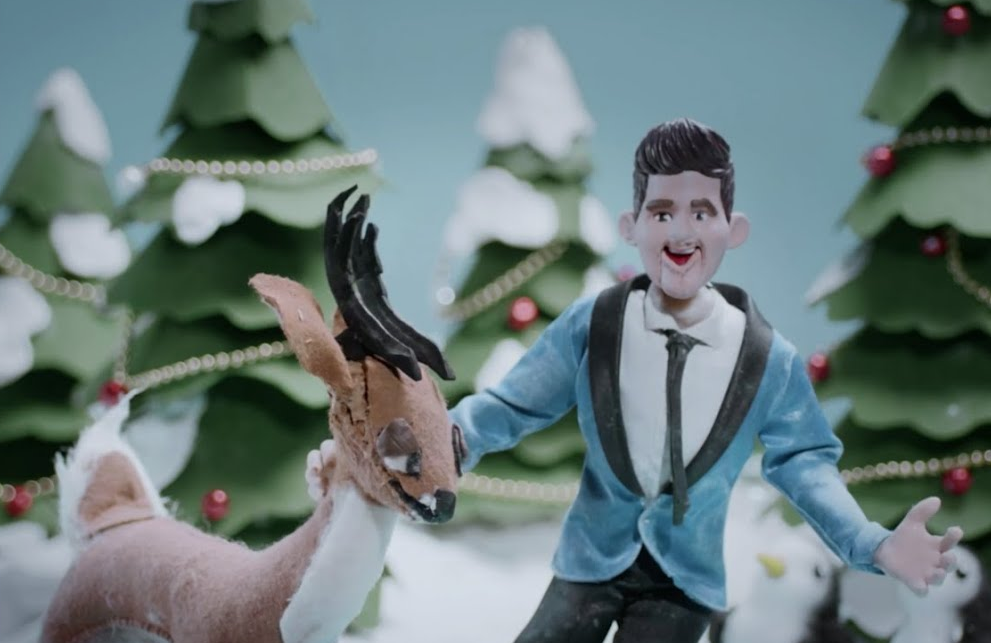 "Michael Buble Made This Cute Stop-Motion Music Video For ""White Christmas"""
