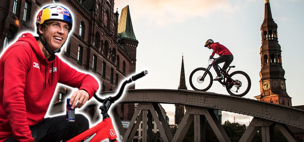 A Red Bull Drone Races A Pro Biker Around Germany