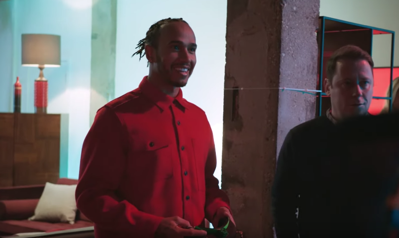 Vodafone Races Some Drones With F1 Star Lewis Hamilton