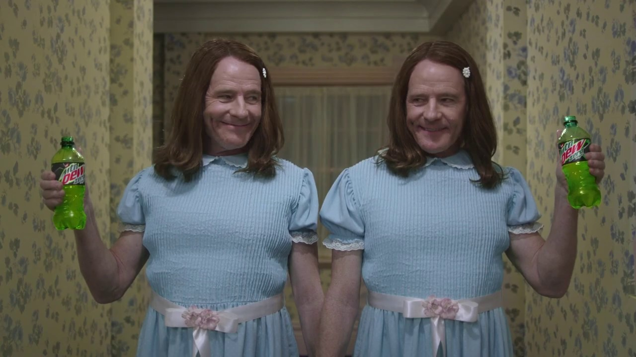 "Bryan Cranston & Mountain Dew Re-Create ""The Shining"" In This Superbowl Ad"