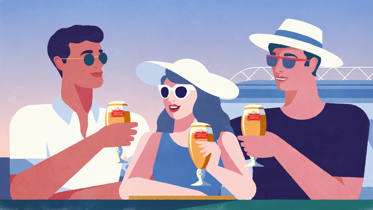Stella Artois Released This Classic Cartoon Ad For The Australian Open