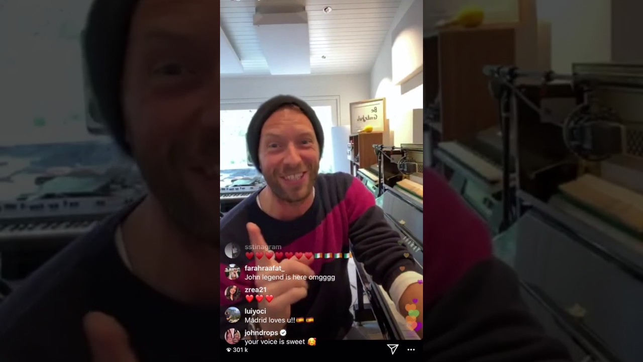 Chris Martin Streamed A Concert From His Living Room For Anyone Stuck At Home