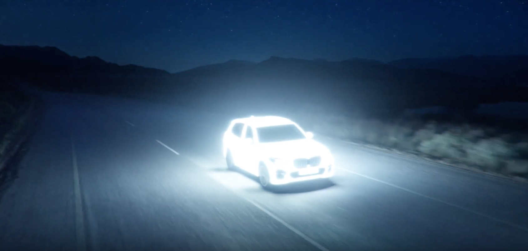 BMW's Car Lights Up The Road In This Futuristic Ad