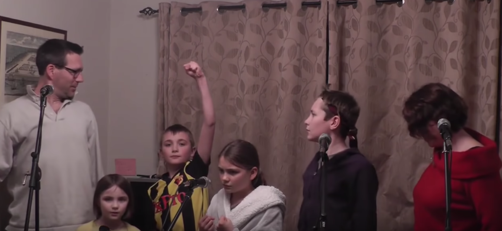 "Watch The Marsh Family's Viral Version Of The Les Misérables Song ""One More Day"""