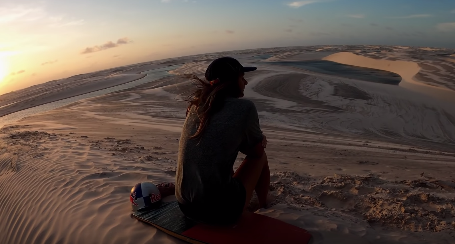 Red Bull Goes Wakeskating Around Brazil's Desert Lagoons